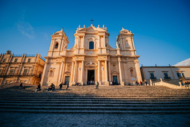 город барокко Ното на острове Сицилия на юге Италии