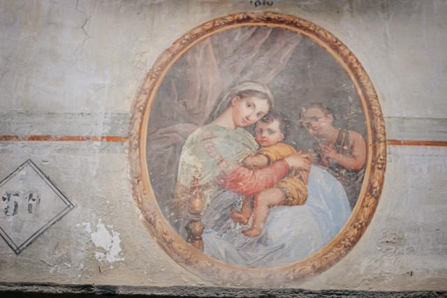 Фреска на фасаде в Санта Мария Маджоре