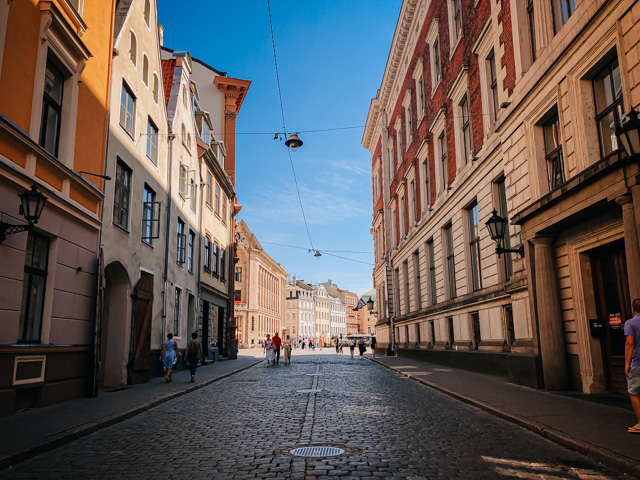 улочка в центре Риги