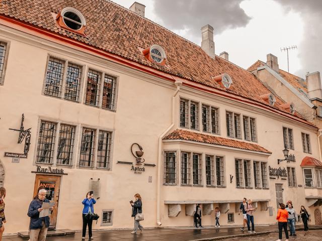 старинная аптека в центое Таллина