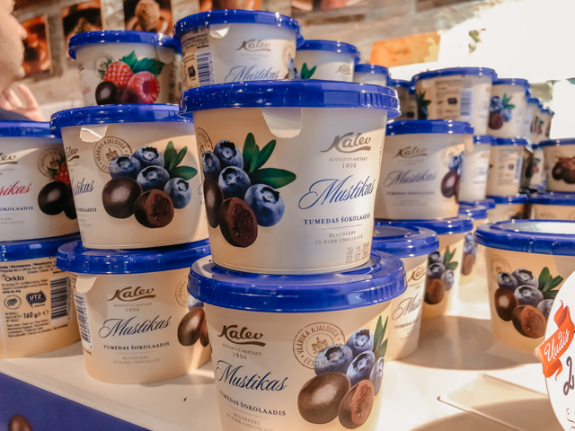 Магазин шоколада фабрики Калев в центре Таллина